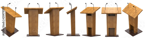 Foto podium with microphone