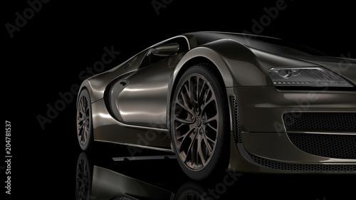 Fototapety czarne - bardzo ciemne sportowy-czarny-samochod