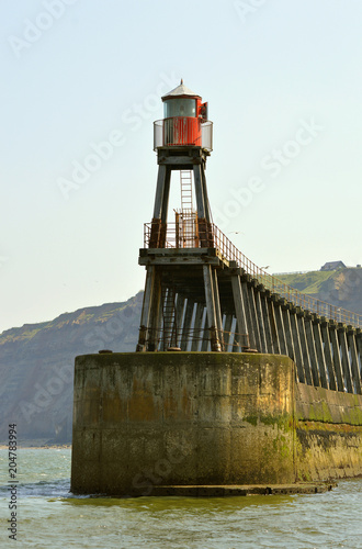 Foto op Canvas Poort Whitby Harbour lighthouse