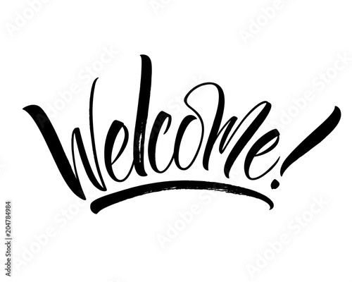 Welcome lettering Canvas Print