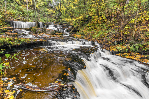 Autumn at Delaware Falls - Ricketts Glen State Park, Pennsylvania Canvas-taulu