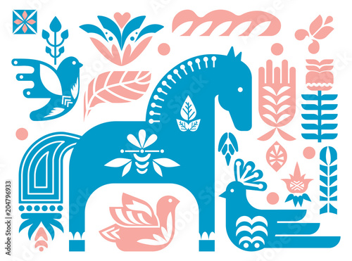 swedish-dala-horse-pattern-scandinavian-seamless-folk-art-design-with-flowers