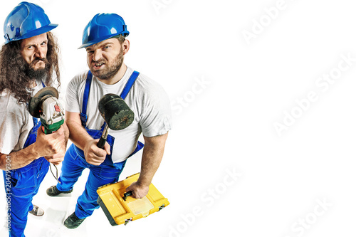Foto op Plexiglas Artist KB Craftsmen holding tools