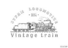 Illustration Of Vintage Train