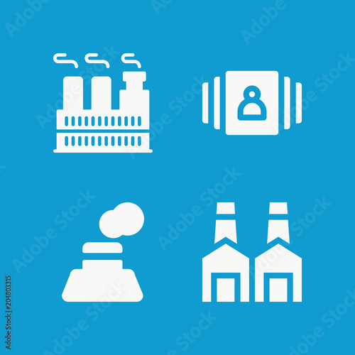 Foto op Aluminium Blauw Landscape related set of 4 icons