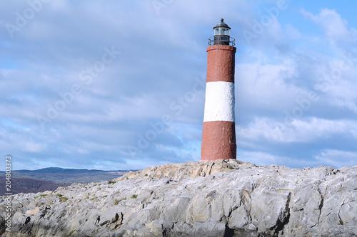 Foto op Aluminium Vuurtoren Lighthouse in Beagle channel.