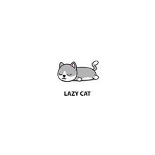 Lazy Cat, Cute Munchkin Kitten...