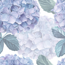 Hydrangea Watercolor Seamless ...