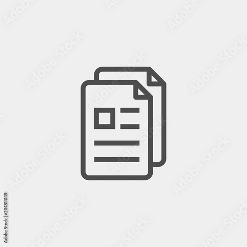 Fototapety, obrazy: Document copying flat vector icon