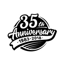 35 Years Anniversary Design Te...