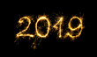 Leinwanddruck Bild - Happy New Year 2019