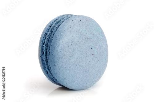Foto auf AluDibond Macarons blue macaroon isolated on white background closeup