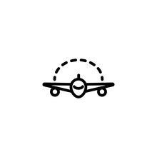 Space Between Plane Wings Icon