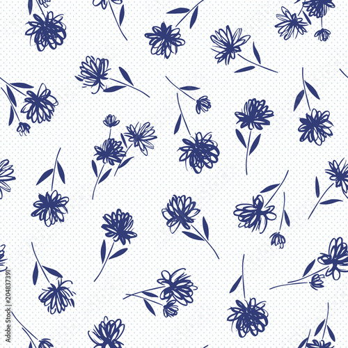 wzor-roslinny-niebieskie-kwiaty-polne-na-bialym-tle