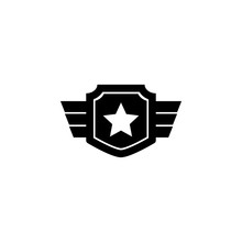 War Star Icon. Element Of Mili...