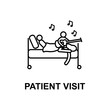 patient visit icon. Element of treatment with name for mobile concept and web apps. Thin line patient visit icon can be used for web and mobile. Premium icon