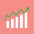 Blue Business graph show financial growth,