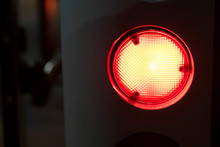Red Emergency Light Glows In D...