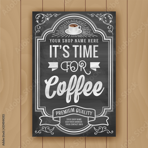 Shop Stock Quote Beauteous Coffee Quote On Chalkboard Background For Poster And Shop Decoration