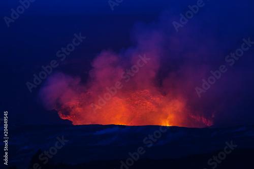 Fotobehang Stof Active volcano
