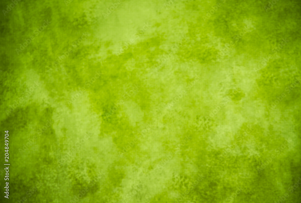 Fototapety, obrazy: Lime green painterly background texture