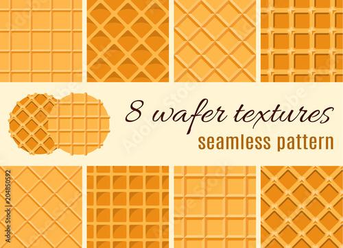Cuadros en Lienzo Set of seamless pattern
