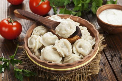 Dumplings in the pot