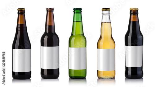 Foto op Canvas Bier / Cider bottles of beer