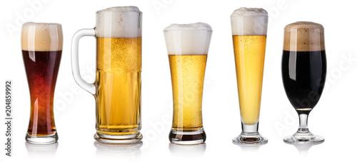 Door stickers Beer / Cider set of beer Glass