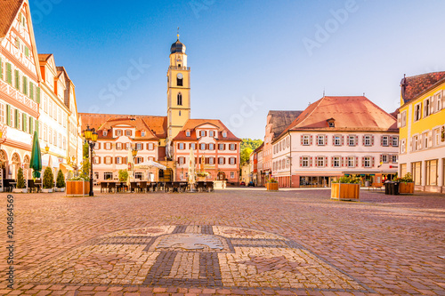 obraz PCV Beautiful scenic view of the old town in Bad Mergentheim - part of the Romantic Road, Bavaria, Germany