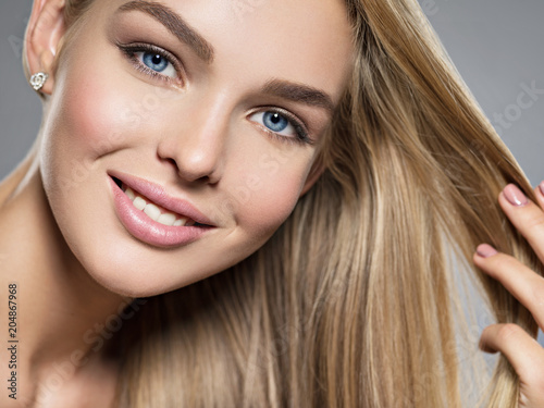 Fotografie, Obraz  Young Woman with beautiful smile
