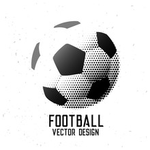 Soccer Football Halftone Abstract Design