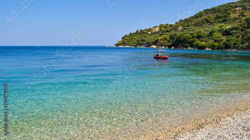 Foto op Plexiglas Panoramafoto s Marathias beach, Zakynthos Island, Greece.