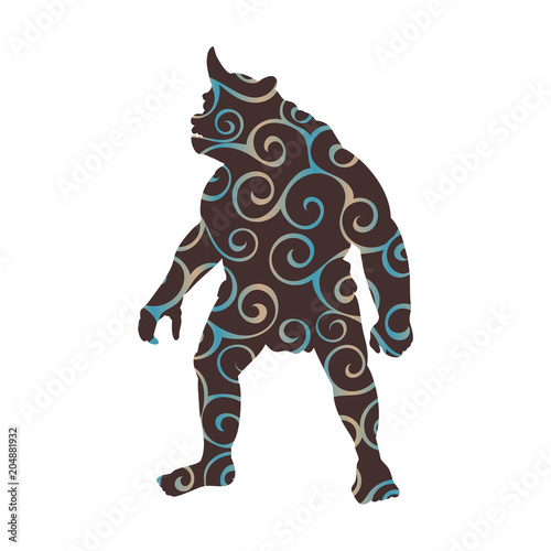 Cyclops pattern silhouette monster villain fantasy Wallpaper Mural