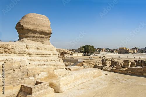 In de dag Egypte Cairo, Egypt, 20 February 2008: Al Haram, Giza Governorate, Pyramid