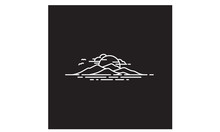 Hawaii Island Mountain Sea Line Art Logo Design Inspiration