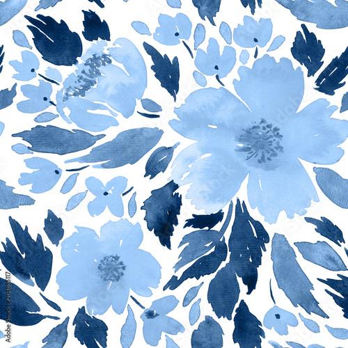 akwarela-luzne-kwiaty-kwiatowy-szablon-ukladu-ramki-w-kolorze-indygo-niebieskim