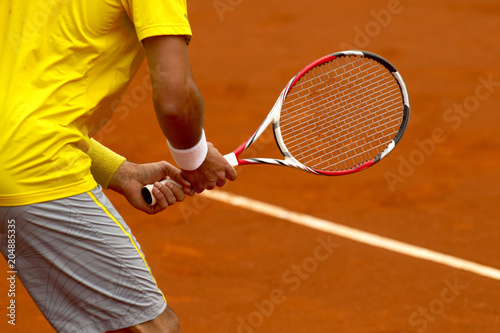 Photo Tenis. Esperando saque