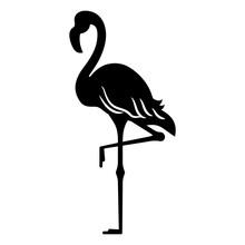 Flamingo Black Silhouette, Sta...