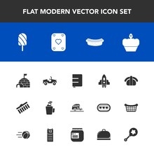 Modern, Simple Vector Icon Set With House, Food, Brush, Cup, Igloo, Shape, Arctic, Journey, Sweet, Salmon, Hotdog, Ice, Space, Hot, Japan, Doughnut, Vacation, Book, Dessert, Sushi, Car, Paper Icons