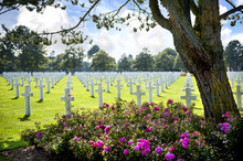 American Cemetery In Omaha Beach, Normandy, France.