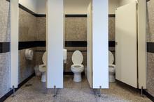 Flush Toilet In Public Three R...