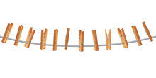 Wooden Clothespin On Clothes L...