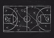 Chalkboard With Basketball Cou...