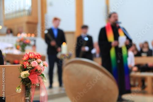 Photo Gottesdienst mit einem Pfarrer