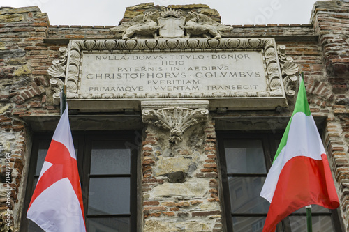 Fotobehang Liguria Christopher Columbus House in Genoa, Italy