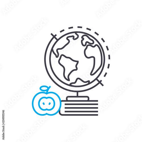 Fotografia  Geography vector thin line stroke icon