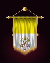 Flag Of Vatican City. Festive ...