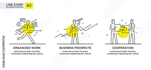 Fotografie, Obraz  Set of illustrations concept with businessmen