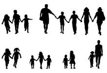 Family And Children Holding Ha...